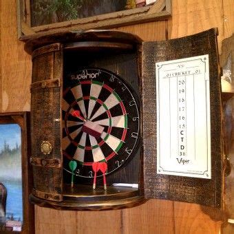 rustic whiskey barrel dartboard furniture pinterest