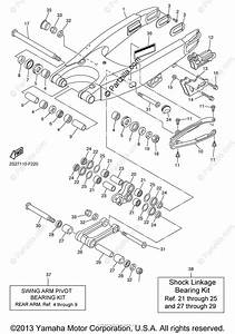 Yamaha Motorcycle 2008 Oem Parts Diagram For Rear Arm
