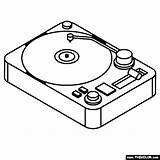 Turntable sketch template