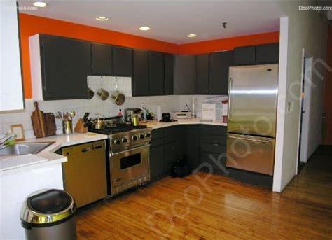 cuisine en orange modèle idée déco cuisine orange
