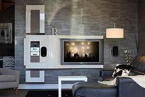 Meuble Tv Au Mur : wave ~ Teatrodelosmanantiales.com Idées de Décoration