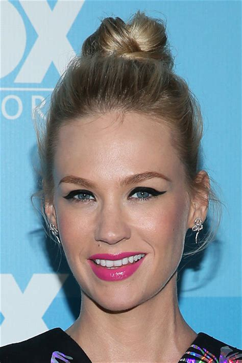 january jones shocking pink lip    recreate