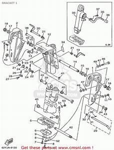 Yamaha F40  F50  T50trx 1999 Bracket 1