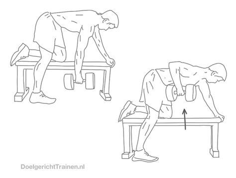 Fitness oefeningen dumbells