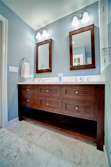 double mirror bathroom cabinet blue bathroom double vanity griffin custom cabinets
