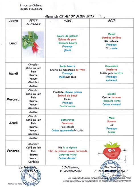 cuisine az menu de la semaine menus des écoles pour la semaine du 3 au 7 juin felletin fr