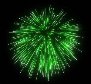 Celebration: green festive fireworks   Stock Photo   Colourbox