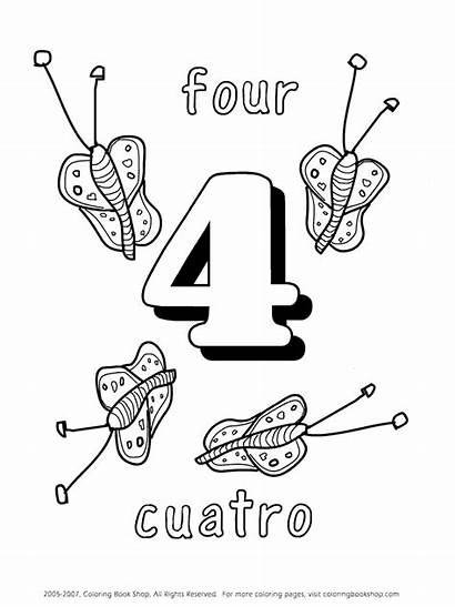 Coloring Number Spanish Numbers Colouring Sheets Popular