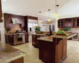 traditional kitchens with islands pictures of kitchens traditional wood kitchens cherry color