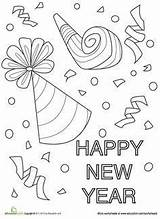Coloring Eve Sheets Confetti Adult Worksheets Colouring Coloriage Feuerwerk Preschool Nouvel Education Crafts Silvester Worksheet Colorear Ideen Neujahr Basteln Sunday sketch template
