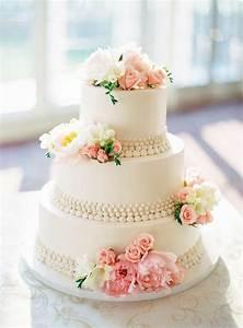 Wedding Cake With Pink And White Flowers #2068306 - Weddbook