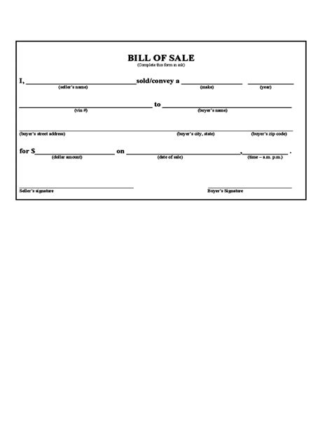 bill ofsale bill of sale form iowa free download