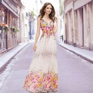 robe d39ete motif floral tendance pour la 2015 With robe longue d été femme