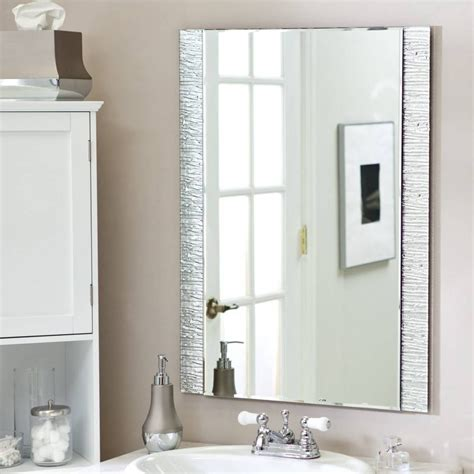 Wall Bathroom Mirror by 15 Inspirations Of Silver Wall Mirrors