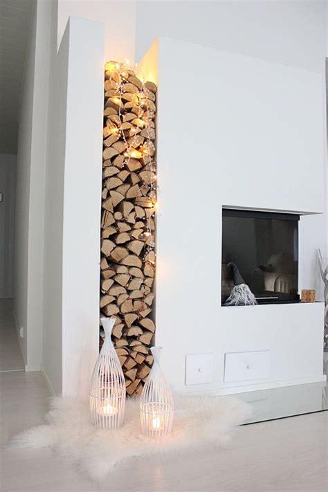 impressive wood log wall ideas