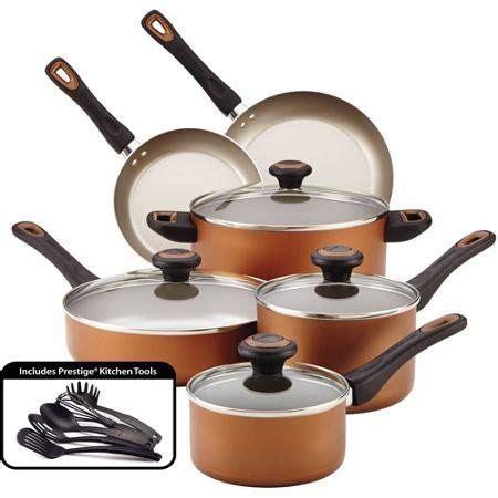 farberware high performance nonstick  piece cookware set copper   find