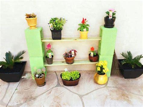 Diy Outdoor Cinder Block Plant Shelf