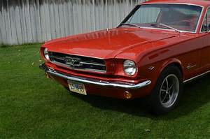 Very fresh restoration, 65 Mustang Fastback, 302 HiPo, Rangoon red & red for sale - Ford Mustang ...