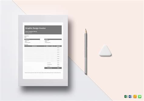 graphic design invoice template  word excel apple
