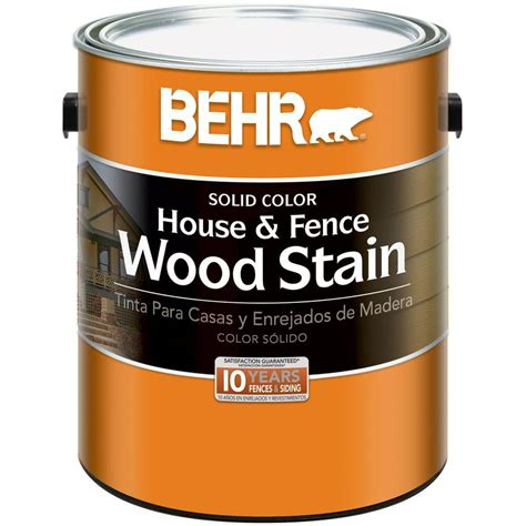 behr 1 gal white base solid color house and fence wood stain 01101 the home depot