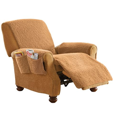 covers with recliners fleece recliner furniture protector cover with pockets by
