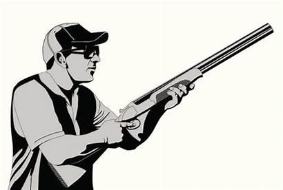 Skeet Trap Shooting Clip Vector Illustration Clay