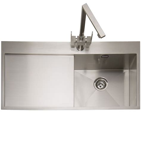 single bowl kitchen sink with drainer caple cubit 100 stainless steel single bowl inset kitchen sink 9306
