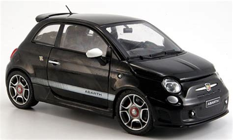 Black Fiat 500 by Fiat 500 Abarth Black 2008 Motormax Diecast Model Car 1 24