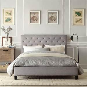 Grey, Fabric, Headboard, In, Wide, Options, Of, Design, U2013, Homesfeed
