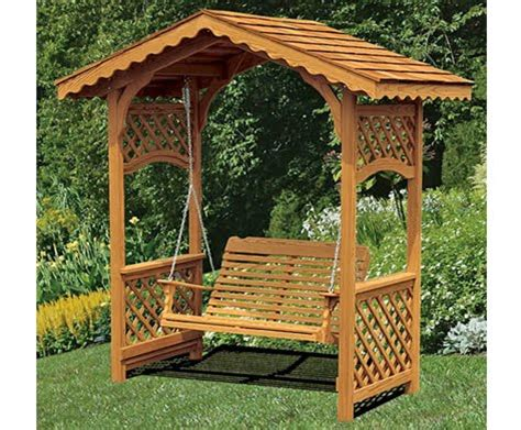 easy building shed and garage arbor swings design arbor swing plan garden arbor swings