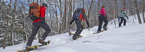 Snowshoeing, Algoma Country, Northern Ontario, Canada