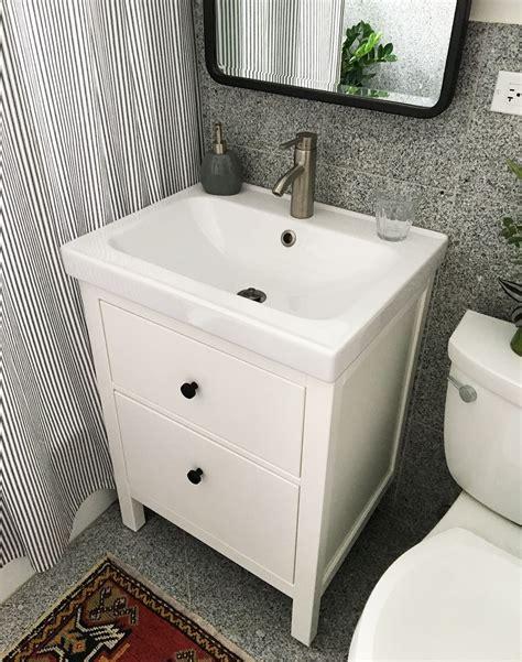 Bathroom Sink And Cabinet Ikea by Installing A Hemnes Odensvik Bathroom Vanity And Sink
