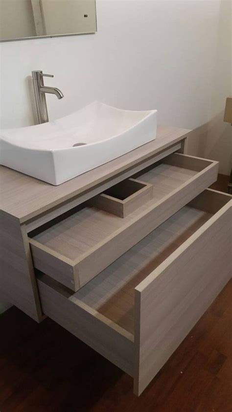customizable contemporary  floating sink vanity