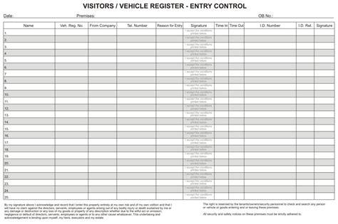 rbe - A4 Visitors / Vehicle Registration