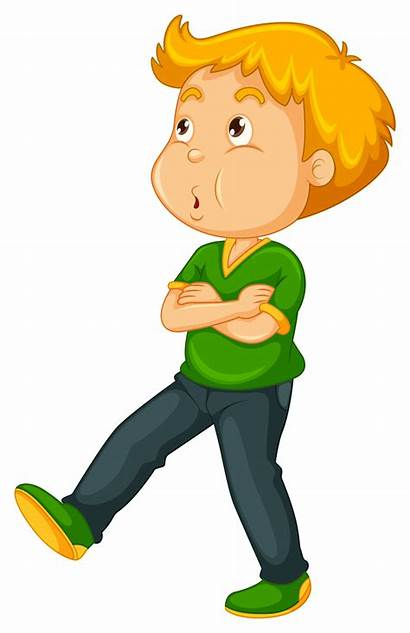 Walking Boy While Whistling Vector Clipart Emoji