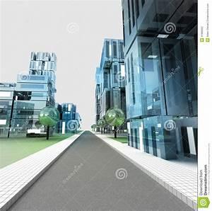 New Modern Visualization Of City Street Of Future Stock ...