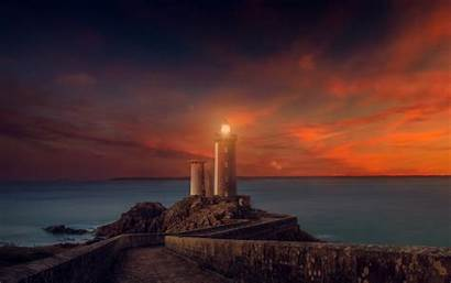 4k Sunset Lighthouse Wallpapers Wide
