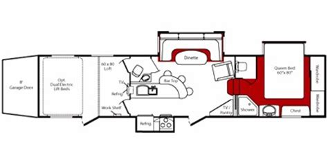 Fuzion 5th Wheel Hauler Floor Plans by 2010 Keystone Rv Fuzion Fifth Wheel Series M 405 Specs And