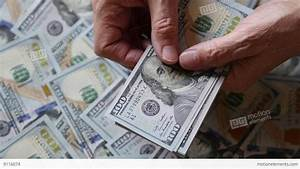 Close Up Of Man Counting Money Dollars Stock Video Footage