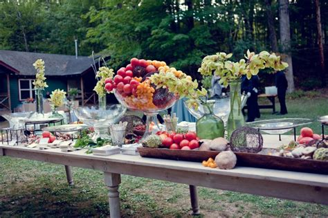 Outside Wedding Food Ideas