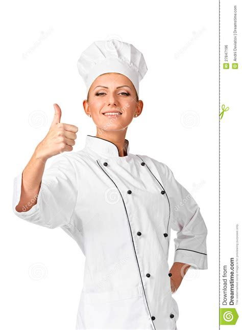 expression cuisine chef thumbs up royalty free stock image