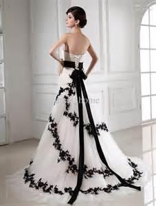 black and white bridesmaid dresses 30 black and white wedding dresses combination mermaid strapless chapel black white