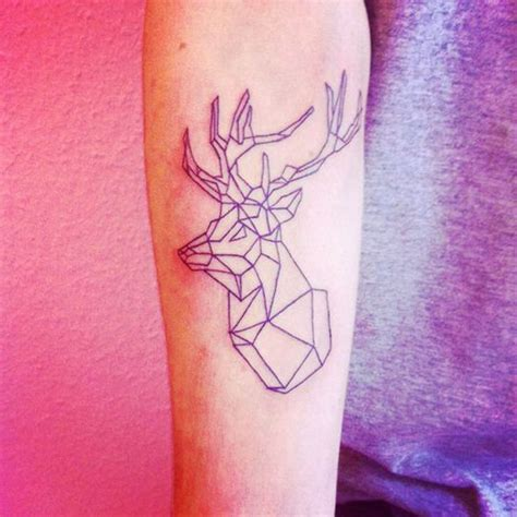 geometric stag tattoo google search tattoo ideas