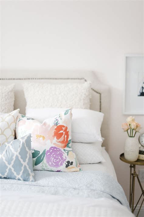 White Accent Pillows For Bed by Mismatched Printed Pillows Domestic Home Bedroom Home
