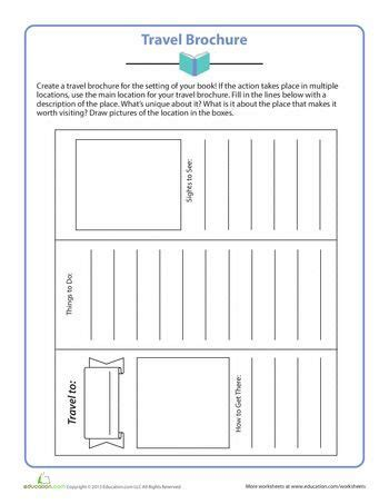 Travel Template For Kids by Printable Travel Brochure Template For Kids Cyberuse