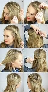 Coiffure Simple Femme : comment faire une coiffure facile cheveux mi longs ~ Melissatoandfro.com Idées de Décoration