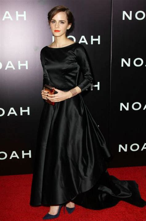 Black Long Sleeves Ball Gown Celebrity Dresses Emma