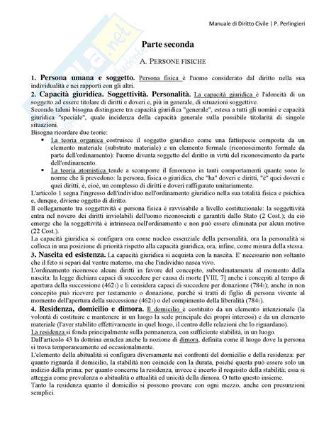 dispensa di diritto privato manuale di diritto civile perlingieri persone fisiche e