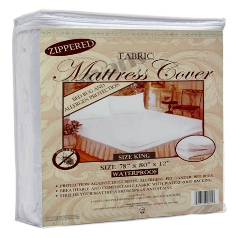 waterproof zippered fabric mattress protector bed bug