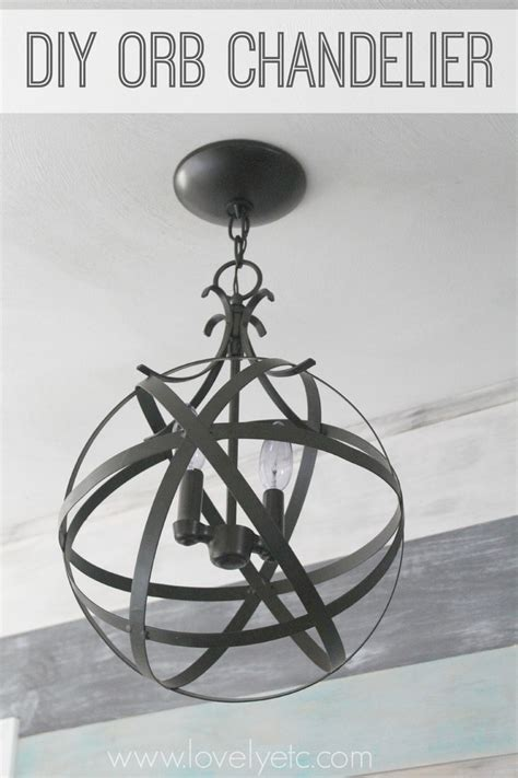 Orb Chandelier Diy by Easy And Inexpensive Diy Orb Chandelier Lovely Etc